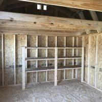 12x16LB shelving in shed dublin ga