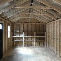 12x24 clay black door shed lyons ga
