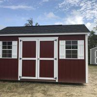 10x16 red white shed jackson ga