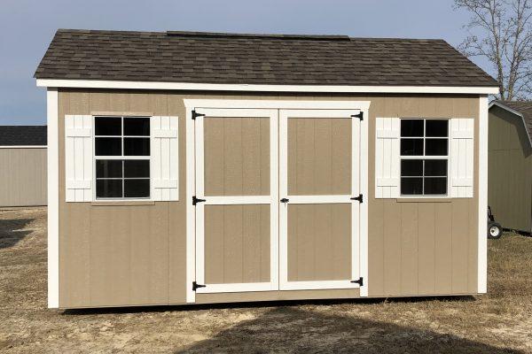 10x16 buckskin white shed statesboro ga