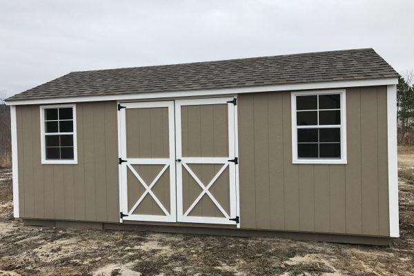 12x20 buckskin white shed milledgeville ga