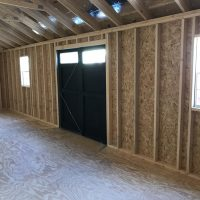 12x32 black doors shed warner robins ga