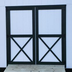 wooden garden sheds double doors