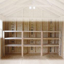 wooden garden sheds shelving package