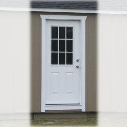 prefabricated garage shed 36 inch 9 lite door
