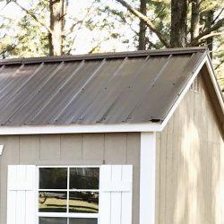 georgia garage shed metal roof colors