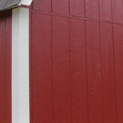 painted utility barn siding trim