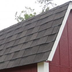 wooden utility barn 30 year shingles