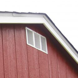 prefabricated sheds gable vent