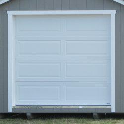 prefabricated sheds garage door