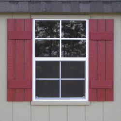 prefabricated sheds window with shutters statesboro ga