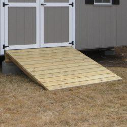 prefabricated garage shed ramp 1