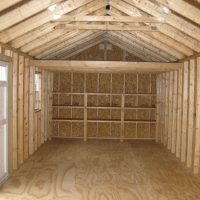 12x32gm interior with loft shed eastman ga