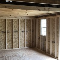 12x24 shed with loft in eastman ga