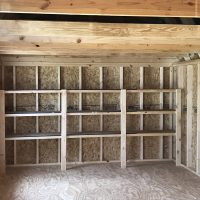 12x24cly white shed interior in swainsboro ga